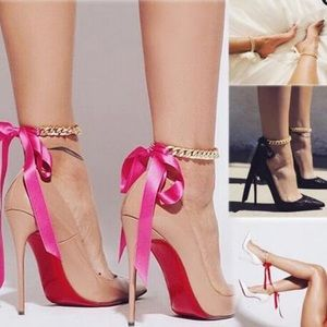 ✨Chained Ribbon Anklets✨4 Colors❗️